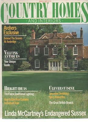 COUNTRY HOMES & INTERIORS MAGAZINE March 1987 Linda McCartney AL