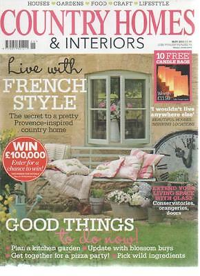 COUNTRY HOMES & INTERIORS MAGAZINE May 2012 Live with French Style AL