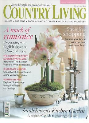 COUNTRY LIVING MAGAZINE Febuary 2005 A Touch of Romance AL