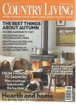 COUNTRY LIVING MAGAZINE November 2002 From Farming to Fashion AL