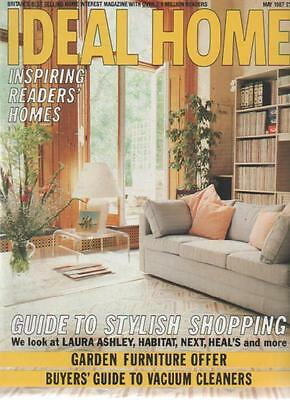 IDEAL HOME MAGAZINE May 1987 Guide to Stylish Shopping AL