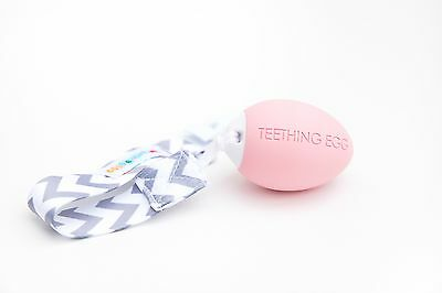 The Teething Egg Baby Pink   The Best Teether for Babies!
