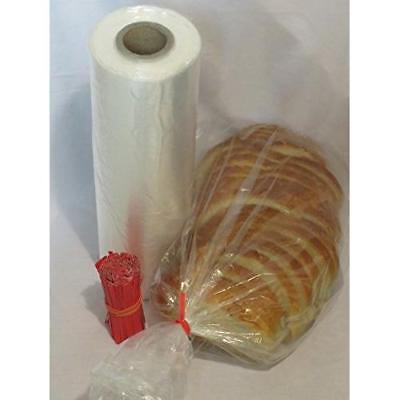 SANROSE Plastic bread and Grocery Clear Bag on Roll 12x20 1 Roll/cs appx. 350
