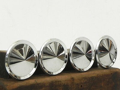 "4 Large Vintage Chrome Drawer Cabinet Handles Knobs Retro Mid Century Modern 3""W"