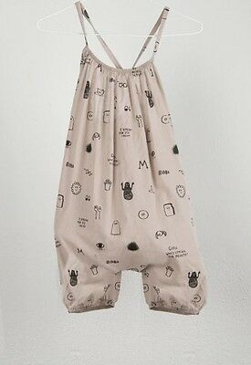 Bobo Choses Breakfast Romper Shorts Jumper Sleeveless Size 6 - 7 New Tag