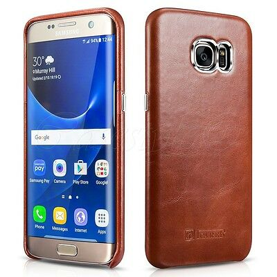 Samsung Galaxy S7+S7 EDGE Genuine Real Cow Leather Case Premium Luxury Cover New