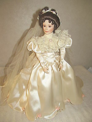 The Ashton-Drake Galleries Elizabeth's 1900's Wedding Dress Porcelain Doll 1994