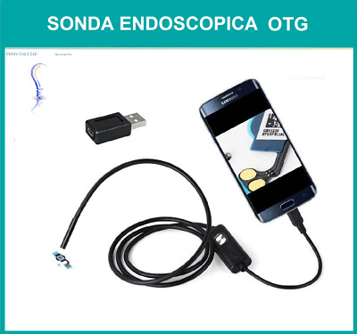 Sonda Endoscopio Camera Telecamera Micro Usb Android 5 Mt 6 Led Otg Impermeabile