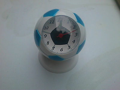 Football Alarm Clock In Blue And White