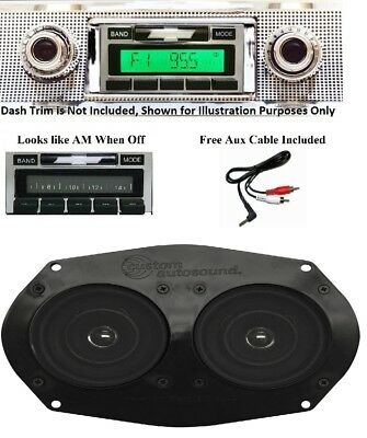 1957 Chevy Car Radio Stereo + Dual Stereo Dash Replacement Speaker ** 230