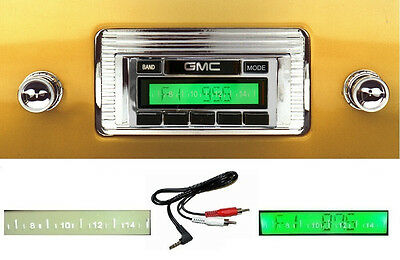 1947-1953 GMC Truck  Stereo Radio -- Free AUX Cable Included -- Stereo 230 **