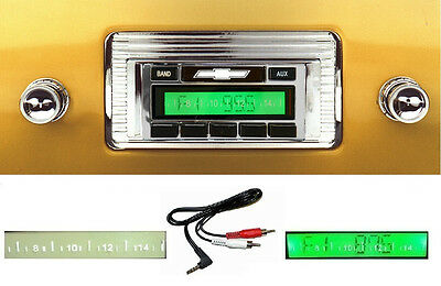 1947-1953 Chevy Truck  Radio Free AUX Cable Included AM FM Stereo 230**