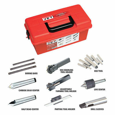 JET 660210 Metalworking Turning Tool Kit for ZX Series Lathes, 23-Piece New
