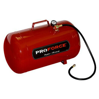 ProForce FT10 10-Gallon Portable Air Tank with Easy-Access Fill Valve New