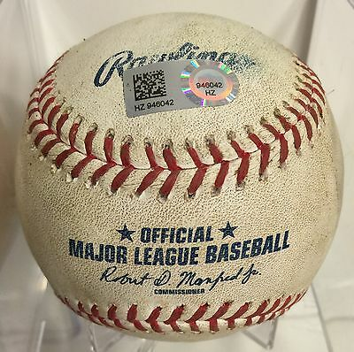 Ichiro Suzuki Game Used Baseball From Game He Passed Ty Cobb Career Hits #4192
