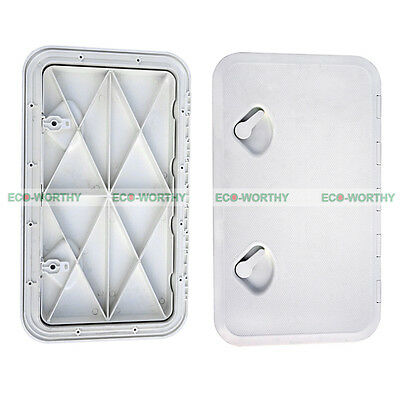 "24"" x 14"" Inspection Access Deck Hatch Door Lid White Plate for Marine Boat"