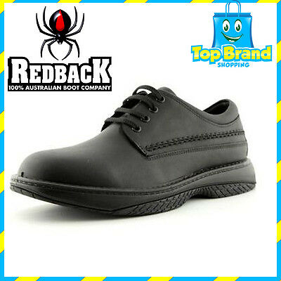 NEW! Redback BLACK WAITER CHEF SHOES WATER OIL REPELLENT LEATHER SHOES ALL SIZES