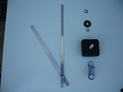 High Torque Clock Movement Extra Long Spindle 250Mm Silver Metal Hands