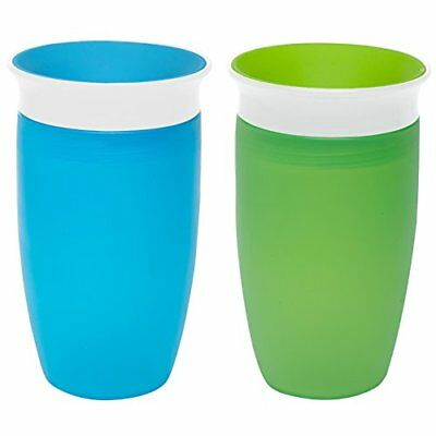 Munchkin Miracle 360 Sippy Cup, Green/Blue, 10 Ounce, 2 Count New