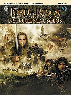 Lord Of The Rings Instrumental Solos For Violin Book & CD *NEW* Sheet Music