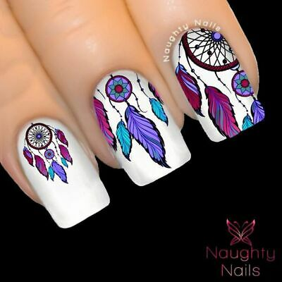 ENCHANTED DREAM CATCHER Nail Water Transfer Decal Sticker Art Tattoo Feather