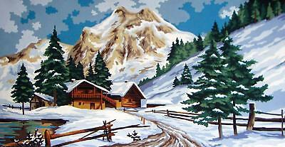 Grafitec Printed Tapestry/Needlepoint Canvas – Winter Scene (Hiver)