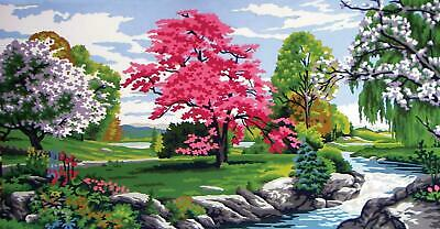 Grafitec Printed Tapestry/Needlepoint Canvas – Spring Scene (Printemps)