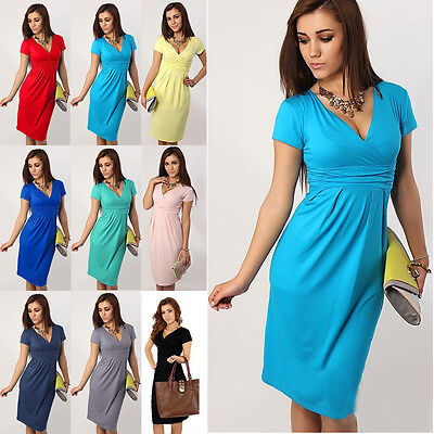 Pregnant Women Summer Comfy Maternity Cocktail Dress Breastfeeding Nursing Dress