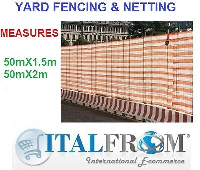 50mt barrier safety mesh netting construction site fence wall garden