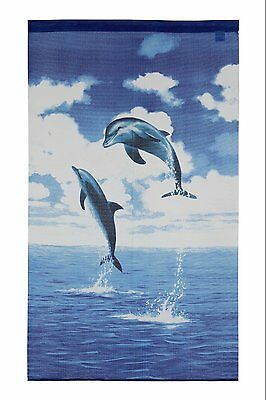 JAPANESE Noren Curtain NEW Dolphin FROM JAPAN