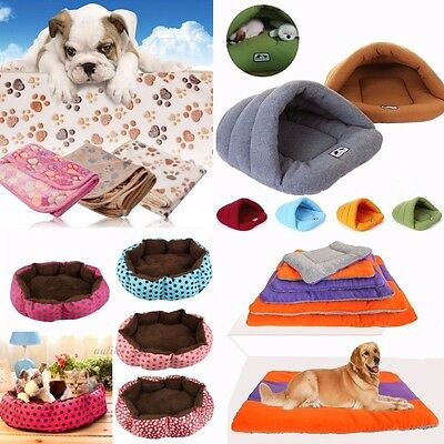 Pet Dog Kennel Cat Warm Fleece Plush Bed Blanke Cave House Puppy Nest  Mat Pad