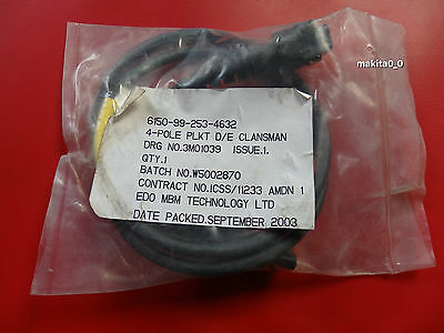 Clansman DCCU 4 Pin Charge Cable, NSN:6150-99-253-4632, Made In England, New