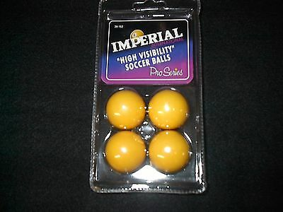 4 Ball Set  of  Yellow  Foosballs