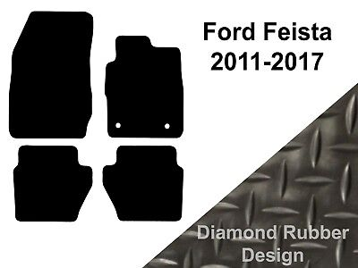 Ford Fiesta (2011 to DATE) Tailored Black 3mm Rubber Car Floor Mats Set of 4
