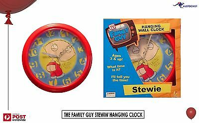 "Family Guy Stewie Griffin Benson's Wall Clock 8"" 21cm DIA BNIB TV Cartoons Cult"