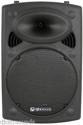 "QTX QR15K 15"" Active Powered Moulded PA DJ Speaker 400W Max"