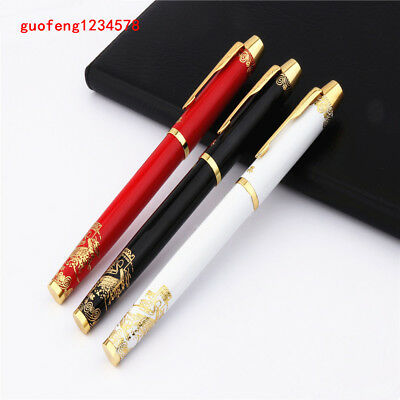 China Gold Great Wall Hero 8007 White Black Red Business  office  Fountain Pen