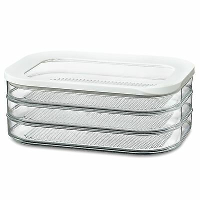 Rosti Mepal Modula 1.6L 3 Tier Meat Cuts Storage Box Airtight Lid