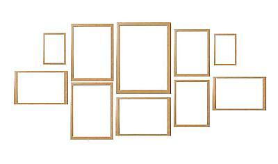Oak 10 Piece Multi Picture Photo Frame Collage Frames Aperture Wall Table Set