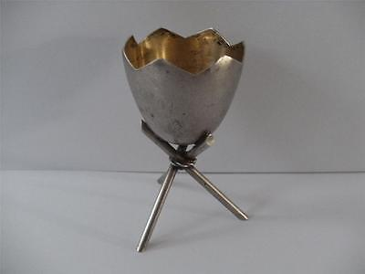 FINE SOLID SILVER EGG CUP TROPHY German 800