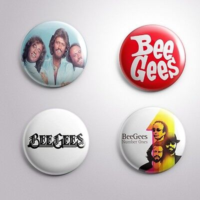 4 BEE GEES  - Pinbacks Badge Button 25mm 1''