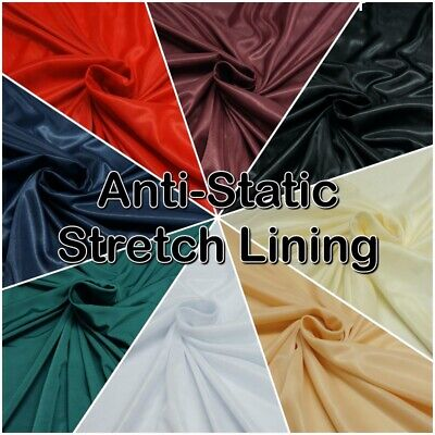"""100% Polyester Jersey STRETCH LINING 60"""" Dressmaking Fabric (Sold per Metre)"""