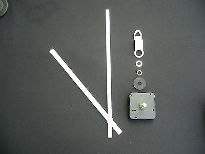 High Torque Clock Movement Extra Long Spindle 250Mm White Baton Metal Hands