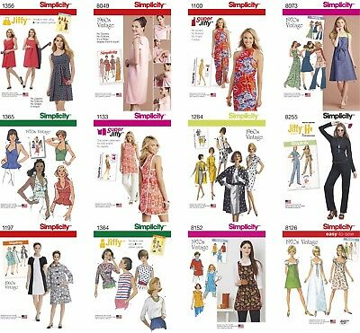 Simplicity Sewing Pattern Misses' Retro 1960s 1970s Aprons Cover-ups Coats Tops