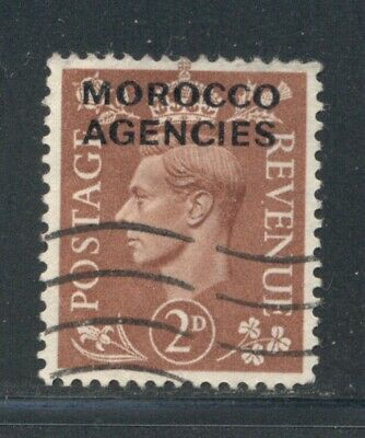 MOROCCO AGENCIES 266 SG97 Used 1951 2p red brn KGVI Cat$5