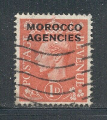 MOROCCO AGENCIES 247 SG78 Used 1949 1p pale scarlet KGVI Cat$10