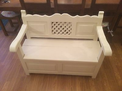 Hand Painted Antique Monks Bench