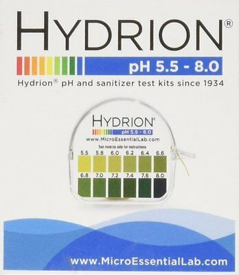 Hydrion Body pH TEST Tape Strips Paper Urine Saliva Dispenser 5.5-8.0 MPN 067