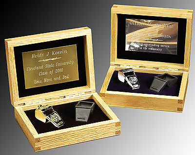 Whistle, Coach, Gift Set solid oak engraved gift box American Made