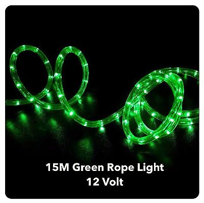 15M LED GREEN 12 Volt, Rope Lights - Ideal for Boats, 4WD, caravans, Outdoor Use